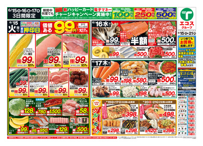 6月15日号生鮮版日替わり・99円均一・父の日:おもて